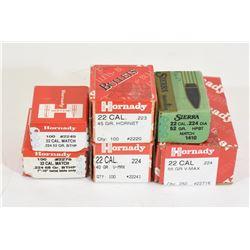 Box Lot 22 Cal Projectiles