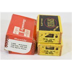 Box Lot 338 Cal Projectiles