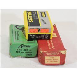 Box Lot 8mm Cal. Projectiles