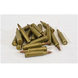 19 Rounds of Reloaded 22-250 Ammunition