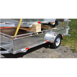 6 x12 New Polished  Aluminum Trailer