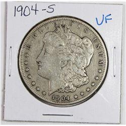1904-S MORGAN SILVER DOLLAR