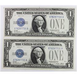(2) PIECE 1928-A $1.00 SILVER CERTIFICATES