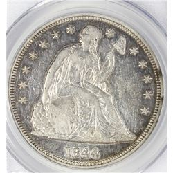 1844 SEATED DOLLAR