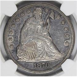 1870 SEATED DOLLAR