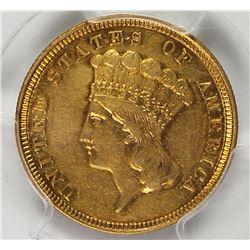 1854 $3.00 GOLD