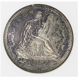 1854-O SEATED QUARTER