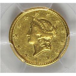 1851-O GOLD DOLLAR