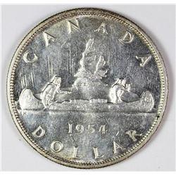 1954 CANADA SILVER DOLLAR