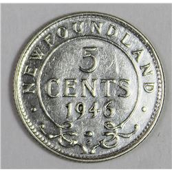 1946-C  NEWFOUNDLAND NICKEL SILVER