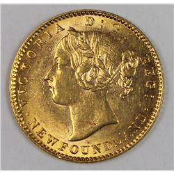 1888 $2.00 NEWFOUNDLAND GOLD