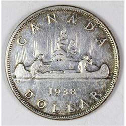 1938 CANADA SILVER DOLLAR