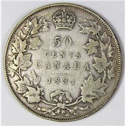 1931 CANADA HALF DOLLAR