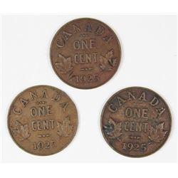 (3) 1925 CANADA CENT
