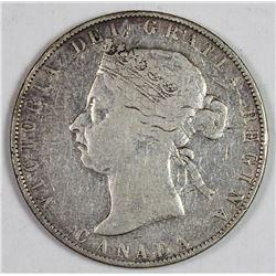 1892 CANADA SILVER HALF DOLLAR