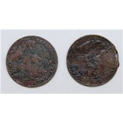 (2) 1923 CANADA CENTS