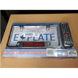 Scrolling License Plate Frame New in the Box