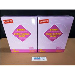 """2 Packs of Staples Pastels Lilac 8.5"""" x 11"""" Letter Size Paper *New Factory Sealed*"""