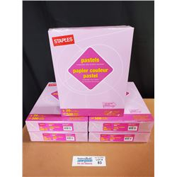 """5 Packs of Staples Pastels Lilac 8.5"""" x 11"""" Letter Size Paper *New Factory Sealed*"""