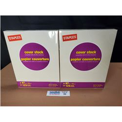 """2 Packs of Staples Cover Stock 67 Lb 8.5"""" x 11"""" Letter Size Paper *New Factory Sealed*"""