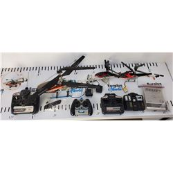 Lot of RC Helicopters