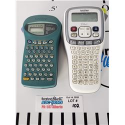 Lot of 2 Brother Label Makers