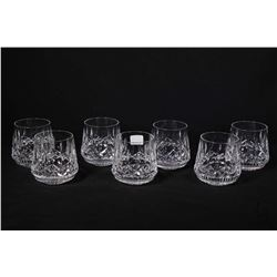 Seven Waterford Lismore crystal 5 oz. tumblers . Note: No Shipping. Local Pickup Only