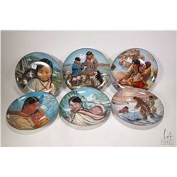 "Six Kaiser limited edition plates including 'Anana with little Nutak"", ""Odark and son Samik"", ""The H"
