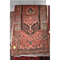 100% Iranian Zanjan area carpet with center medallion, red background, stylized floral design and hi