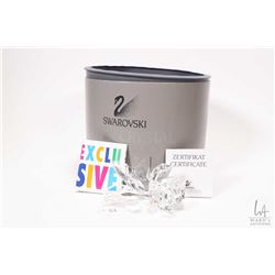 Swarovski crystal rose with original box