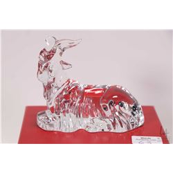 """Baccarat crystal goat 4"""" in length with original box"""