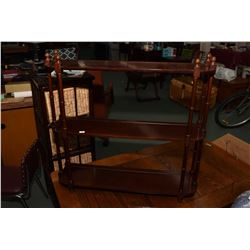 Bombay brand three tier shelf, can be wall mounted or sat on a cabinet