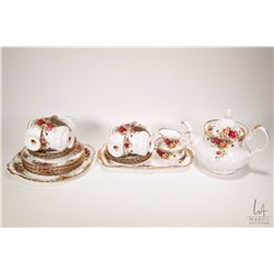 "Selection of Royal Albert ""Old Country Roses"" china including eight teacups and saucers, six sandwic"
