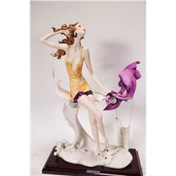 "G. Armani ""Capodimonte Style"" figurine of a young woman 14"" in height"
