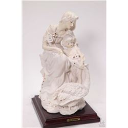 "G. Armani ""Capodimonte Style"" figure of a mother, child and swan 10"" in height"