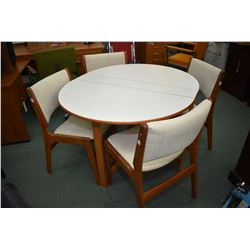 Mid century Canadian made dinette suite with drop leaf table and four dining chairs