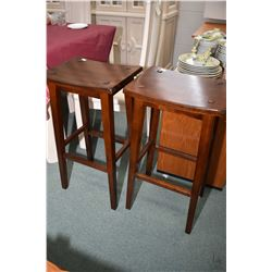 Pair of modern tall backless kitchen stools