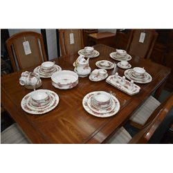 Selection of Paragon Elizabeth Rose bone china dinnerware including settings for six of dinner plate