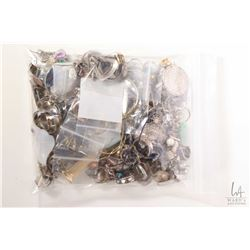 Jewellery makers lot of sterling silver including earrings, pearls, brooches, pendants etc.