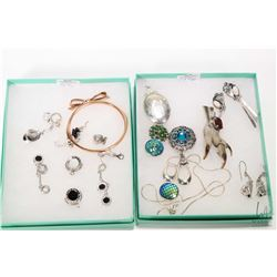 Two tray lots of jewellery including Thomas Sabo charms, Kate Spade bracelet, Bvlgari earrings and t