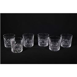 Six Waterford Lismore crystal 9 oz. Old fashion glasses. Note: No Shipping. Local Pickup Only