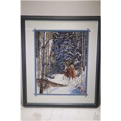 """Framed limited edition print """"Keeper of the Secret"""" hand signed by artist J. Kramer Cole, 2484/3500,"""