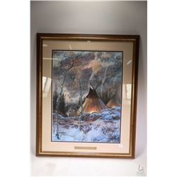 "Framed limited edition print "" Wakan Tanka"" hand signed by artist J. Kramer Cole, 2259/2500, overall"