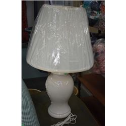 Two ginger jar style table lamps with shades