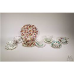 Two tray lots of china collectibles including teacups and saucers; Stafford, Foley, Paragon, Aynsley