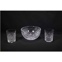 "Selection of Waterford crystal including an 8"" Alana fruit bowl, a pair of Alana tumblers plus a mis"