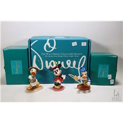 "Three Classic Walt Disney Collectibles figures including 6"" Minnie Mouse- A Real Sweetheart"" figure,"