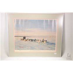 "Framed limited edition print "" Forward Resources"" pencil signed by artist B.W. Brown, 168/250, overa"