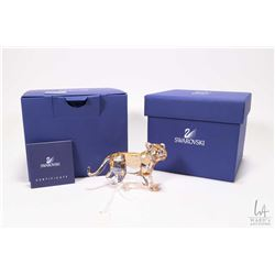 """Swarovski Collector's Society coloured crystal lion 3"""" with original box and packaging"""