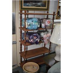 """Five tier open shelf book/ display unit, 58"""" in height"""